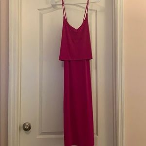 Banana Republic magenta midi dress Size Small  NWT